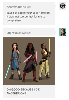 Two amazing things combined: Star Wars and Hamilton. And Angelica is even more awesome because she now has a lightsaber. But why does she have the red lightsaber? I get the color motiff but red? Theatre Nerds, Musical Theatre, Theater, Alexander Hamilton, Hamilton Lin Manuel Miranda, Hamilton Eliza, Hamilton Star, Hamilton Fanart, Star Wars