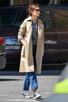 chungit-up: Alexa Chung is seen out and about in New York City   April 2016