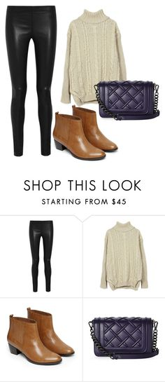 leather leggings by ve-safarova on Polyvore featuring Joseph, Warehouse and Charles Jourdan
