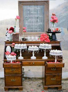 Pretty dessert table ADD diy <3 <3 www.customweddingprintables.com