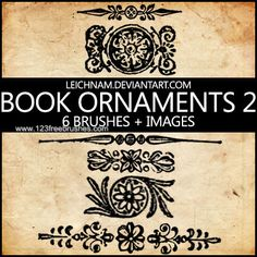 Book Ornaments - https://www.123freebrushes.com/book-ornaments-2/