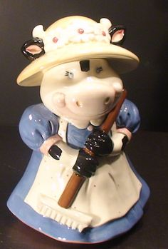 Cow Cookie Jar made in Mexico by Treasure Craft