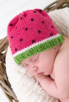 Watermelon Hat by Nona Davenport, this could be cute for my little niece