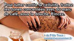 un massage au marc de café pour lutter contre la cellulite sur les cuisses