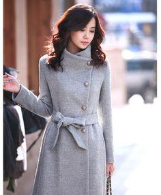 moda kadın ilkbahar sonbahar kış rahat yün ceket uzun bir bölüm ceket giyim