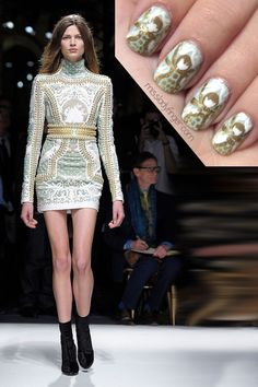 Olivier Rousteing may only be two seasons into his reign, but he's certainly no stranger to the craftmanship inherent to Balmain. Apart from the iconic Balmain shapes and structures, Rousteing carried the rocking body-con minidresses into Fall, but this time dripping in crystals and pearls. I'll take one of those, please!  To recreate this look, [...]