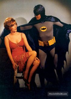 Jill St John and Adam West from the Batman series. Batman Show, Real Batman, Batman Tv Series, Im Batman, Batman Robin, Superman, Bob Kane, Batgirl, Catwoman