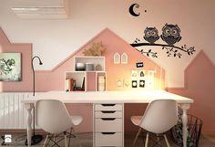 Pokoje dla nastolatków młodszych i najmłodszych - Średni pokój dziecka dla dziewczynki dla rodzeństwa dla nastolatka, styl skandynawski - zdjęcie od ELEMENTY