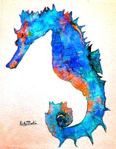 Seahorse Ocean Animal Sea Marine Life Girl's by RickyArtGallery, $15.00