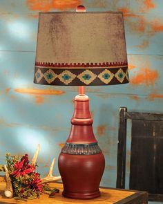 Southwest table lamp from southwestern lamps southwestern red canyon southwest table lamp aloadofball Gallery