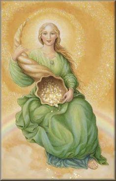 Abundantia is a beautiful Roman Goddess of success, prosperity, abundance and good fortune. Her image graced Roman coins in ancient times. From GODDESS CENTRAL Money Prayer, Roman Gods, Greek And Roman Mythology, Goddess Art, Sacred Feminine, Angel Cards, Gods And Goddesses, Archetypes, Deities