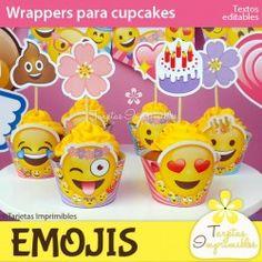Emojis nena Wrappers para cupcakes
