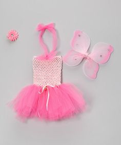 Take a look at this Light Pink Fairy Dress Set - Infant & Toddler by TutusByUs2 on #zulily today!