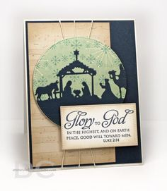 Glory to God card by Debbi Carriere #Cardmaking, #Christmas