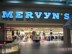 Mervyn's ~ many memories shopping the sales with my mom, grandma & aunts. Right In The Childhood, My Childhood Memories, Old Love, The Good Old Days, Oklahoma Attractions, Entrance Signage, Vintage Classics, 90s Nostalgia, Music Tv