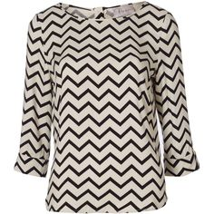 Zig Zag Top by Poem ($55) ❤ liked on Polyvore