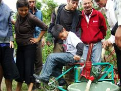 Maya Pedal transforms old bikes into pedal-powered water pumps...