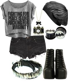 """""""Now I Know That I Can't Make You Stay But Where's Your Heart?"""" by batmanjayy ❤ liked on Polyvore"""