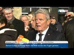 Joachim Gauck zum Wahlsieg von Donald Trump am 09 11 2016 Joachim Gauck, Donald Trump, Us Wahlen, Videos, Las Vegas, Youtube, Donald Tramp, Last Vegas