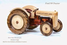 Kidman Creations - Custom wood models of any vehicle you could imagine. : Wooden Dump Truck Trailer with Cat Set Wooden Toy Farm, Wooden Truck, Wooden Car, Wooden Puzzles, Wood Projects That Sell, Woodworking Toys, Wood Toys, Custom Wood, Hobbies And Crafts