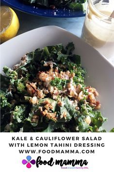 Kale & Cauliflower Salad with Lemon Tahini Dressing
