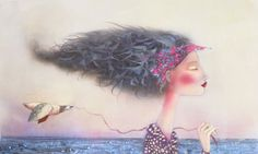 Snow Goose Kate Smith, Snow Goose, Beautiful Pictures, Dreadlocks, Hair Styles, Drawings, Artist, Inspiration, Painting