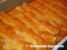 Creamy Chicken Enchiladas!