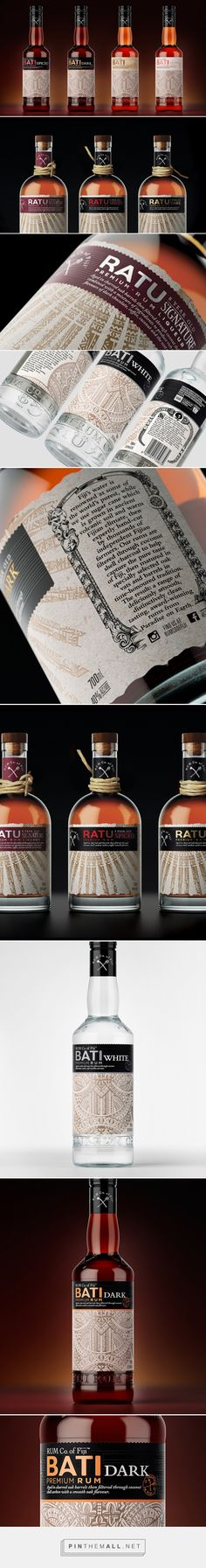 Rum Co. of Fiji packaging design by The Creative Method - http://www.packagingoftheworld.com/2017/09/rum-co-of-fiji-rebrand.html