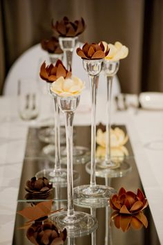 Chocolate decoration of the table