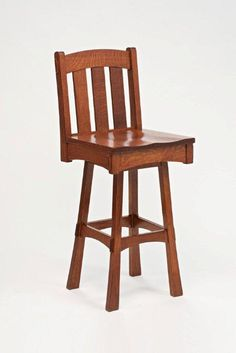 Amish Kitchen Furniture Modesto Mission Swivel Barstool