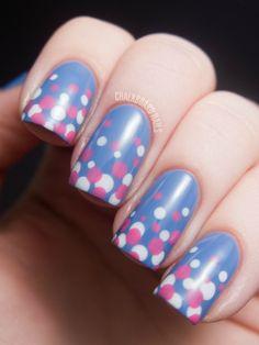 Beautiful Polka Dot Nails