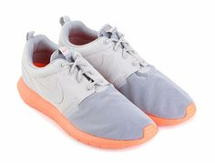 Roshe run Nm Br Shoes by Nike. rubber sole, mesh upper, round toe, front laces, a combination of grey and orange, the color combination is perfectly done, calling all the roshe team, run with style with this roshe run.    http://www.zocko.com/z/JEofT