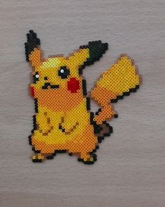 Handmade Pokemon Pikachu Bead Sprite.