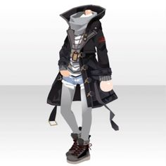 Riding Into Beautiful Snowy Town Anime Outfits, Boy Outfits, Cute Outfits, Manga Clothes, Drawing Clothes, Vetements Clothing, Clothing Sketches, Anime Dress, Fashion Design Drawings