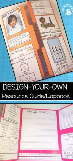 SPED lapbook/resource quide! Customize it however you like depending on student needs. Provides sections for basic personal information and IEP goals.