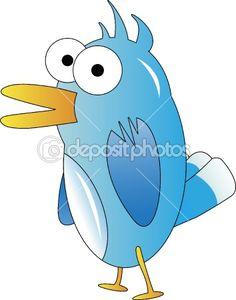 Blue bird illustration — Stock Photo #5213245