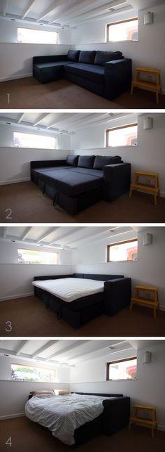 ikea manstad sleeper sofa - would be great in a basement