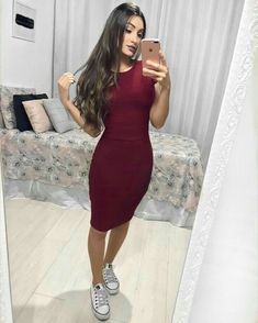 29 Ideas For Moda Evangelica 2019 Jovem Mode Outfits, Skirt Outfits, Modest Fashion, Fashion Dresses, Fashion Clothes, Look Star, Casual Dresses, Casual Outfits, Casual Clothes