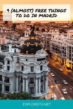 Check out these 9 free and budget-friendly things to do in Madrid, Spain!