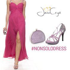 #NONSOLODRESS A questo abito stile impero proponiamo di abbinare una scarpa in satin #rosa come questa della collezione #FabianaFerriShoes&Bags #ss14  #style #outfit #abbinamento