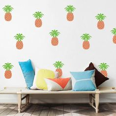 Easy Removable Pineapple Wall Decals
