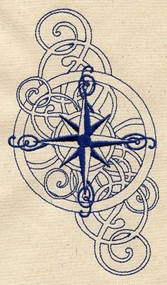I have always wanted a compass rose tattoo... If I ever do get one,this would be the design (Nautical - swirly compass rose)