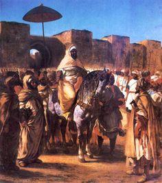 Eugène Delacroix - Sultan du maroc et sa suite