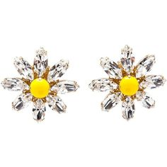 Dolce & Gabbana daisy cystal earrings ($460) ❤ liked on Polyvore featuring jewelry, earrings, accessories, earrings jewelry, crystal jewelry, daisy earrings, heart-shaped jewelry and crystal earrings