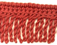 twisted fringe how-to via Charm Knits: More Edges/Trims