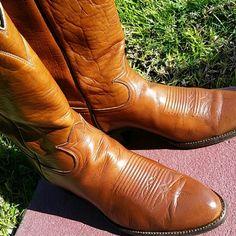 Cognac ~Tony Lamas Boots Men's 10 D ~Very good condition Tony Lamas  Shoes Heeled Boots