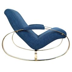 Milo Baughman Atrributed Brass Rocker