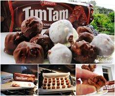 You will love this Tim Tam Balls Recipe with Cream Cheese filling and they are no bake and easy to make. Watch the video tutorial now. Cream Cheese Recipes, Cream Cheese Filling, Cupcake Recipes, Snack Recipes, Cooking Recipes, Tim Tam Cake, Tim Tam Cheesecake, Aussie Food, Delicious Desserts