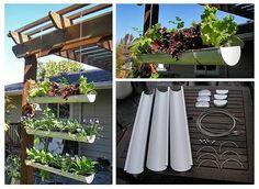Uma horta suspensa no seu quintal na casa da cidade! Muito prático e saudável!