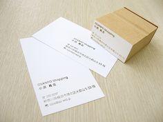 組み合わせや配置の仕方でアレンジ無限大☆「名刺スタンプ」(オーダースタンプ)